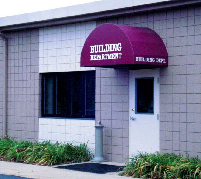 Building Department entrance at Williams Township Hall